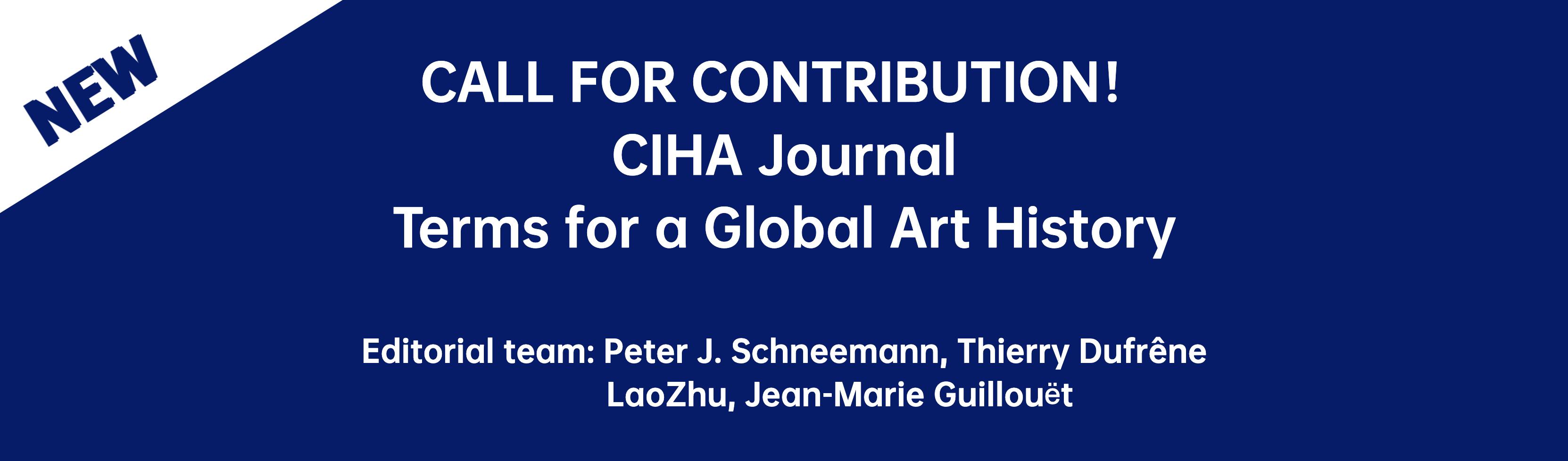 CALL FOR CONTRIBUTIONS - CIHA Journal